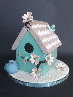 Shabby Chic, Bird House Cake | by SmallThingsIced