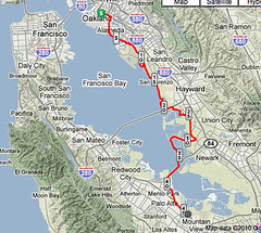 Full Middle East Bay Way Route