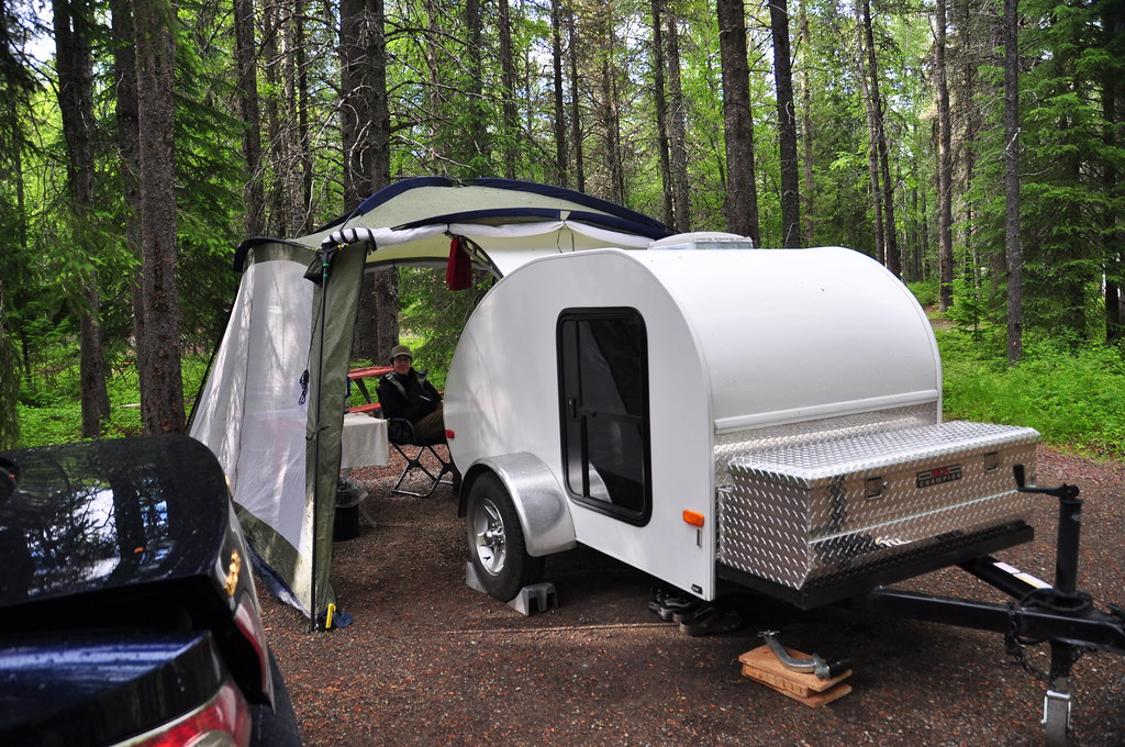 Our Humble Teardrop Trailer At Apgar Campground Glacier N