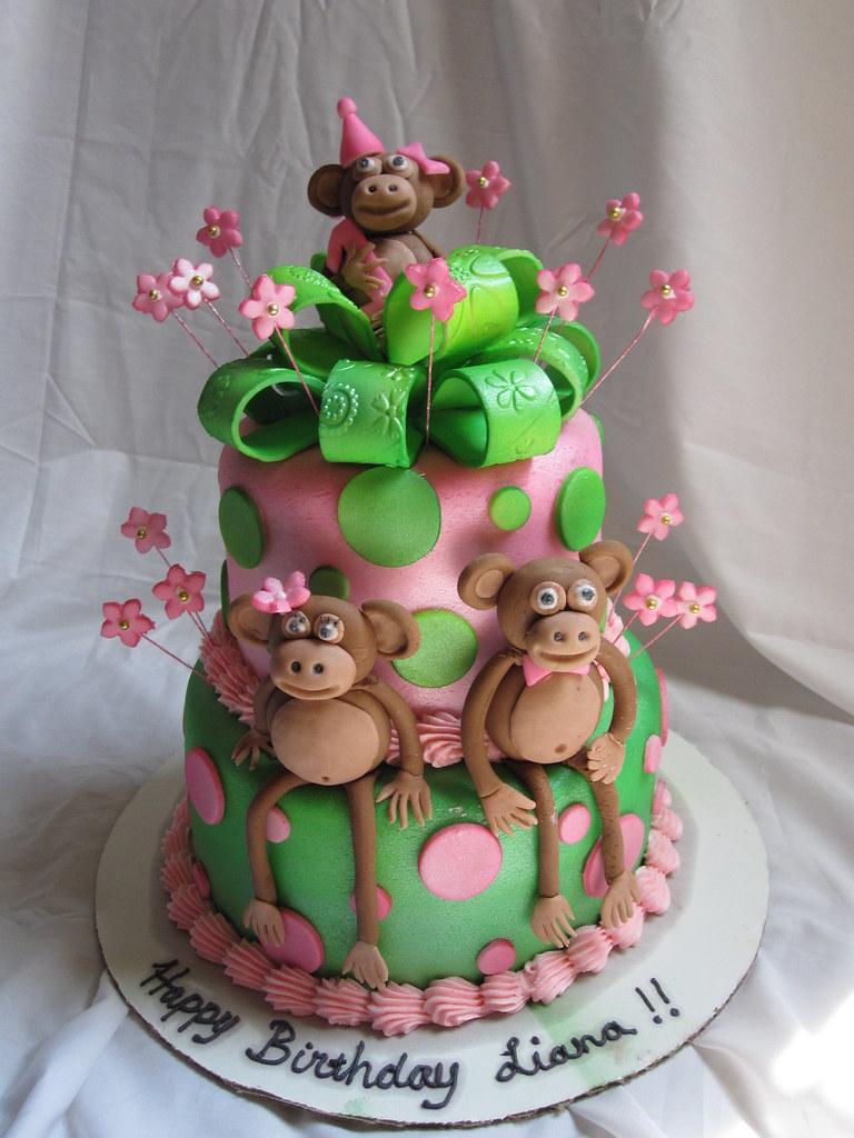 Astounding Monkey 1St Birthday Cake Monkey 1St Birthday Cake Flickr Personalised Birthday Cards Petedlily Jamesorg
