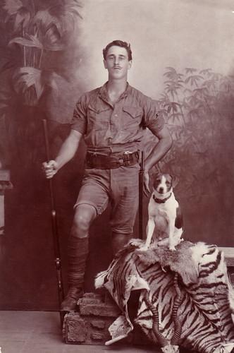 British Man Posing With Dog And Rifle Bangalore India C Flickr