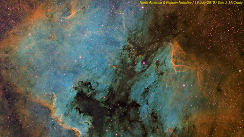 North America and Pelican Nebulae (narrowband) | by DJMcCrady