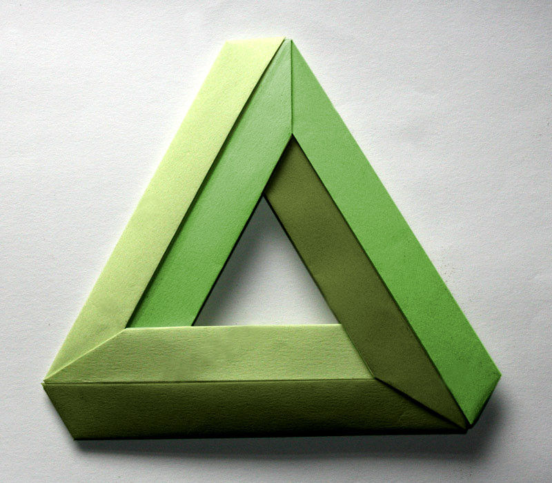 penrose triangle a 3 piece impossible or penrose triangle flickr. Black Bedroom Furniture Sets. Home Design Ideas