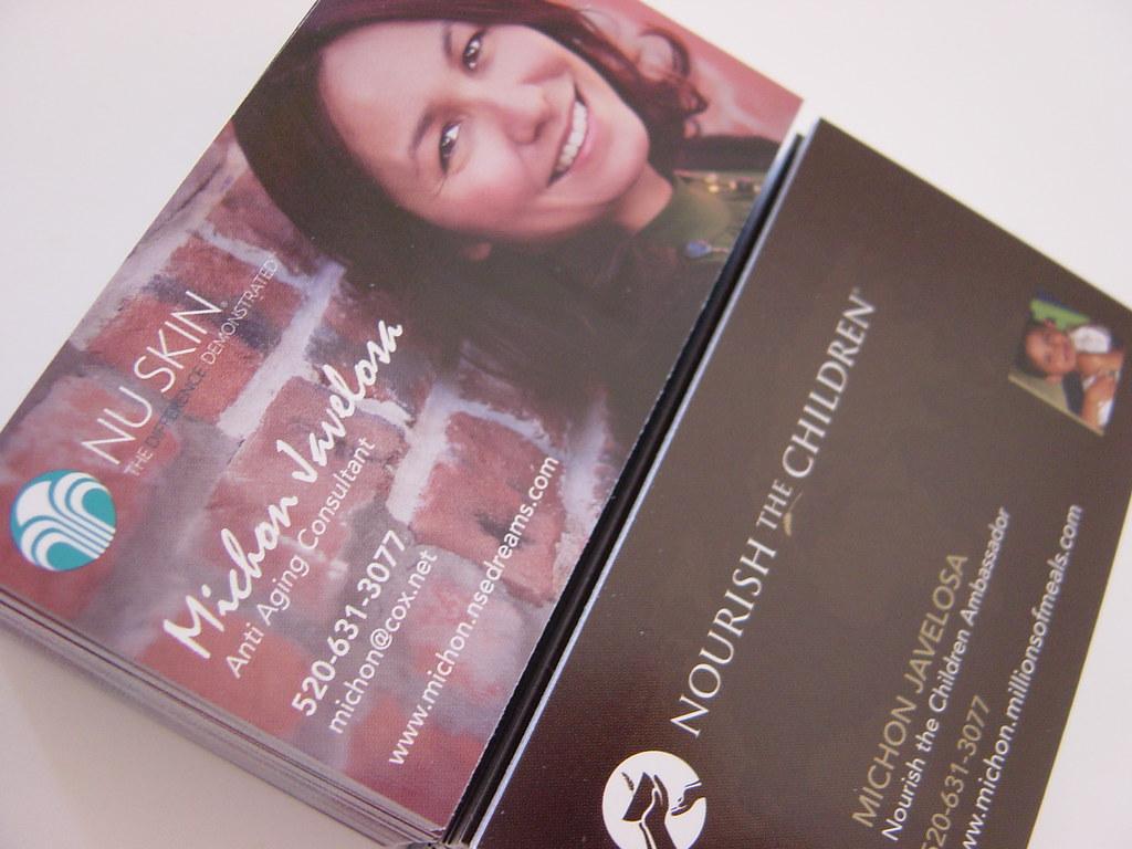 Nu Skin Business Cards | Amy Foley | Flickr