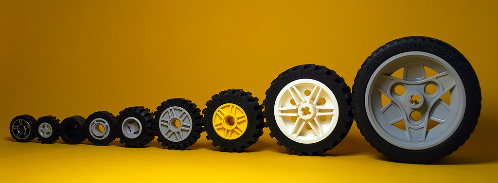 World Of Wheels >> 11/365 lego wheels in lines | find different lego wheels ...
