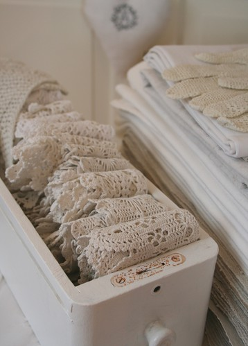 Lots of Vintage lace | by Country Cottage