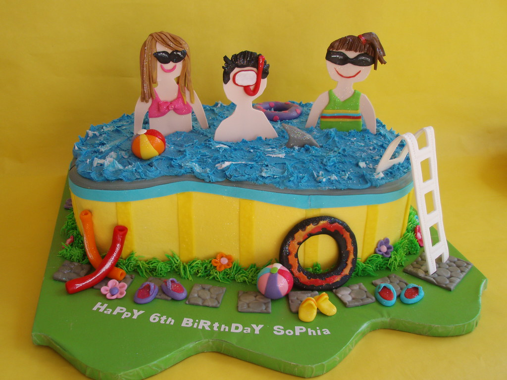 Pool Party Birthday Cake This cake was based off of flickr Flickr