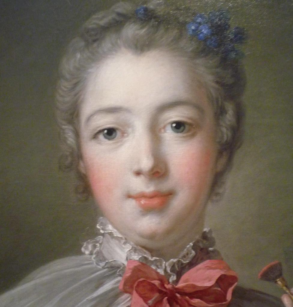 Francois Boucher Madame De Pompadour Detail Of Face Oi Flickr