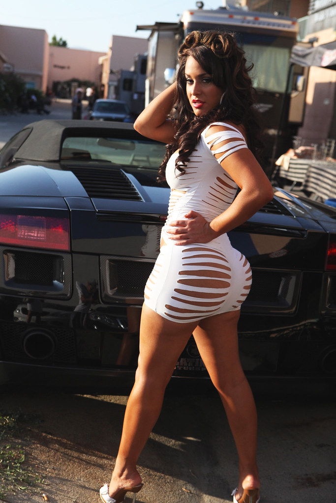 Tammy In Front Of The Lambo  Tammy Torres On The Set Of -3827