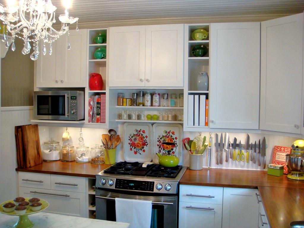 The sweet pea caf jen flickr for Black kitchen cabinets online