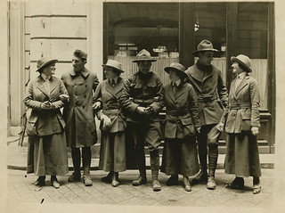 Women and men in uniform, circa 1917 | by Center for Jewish History, NYC