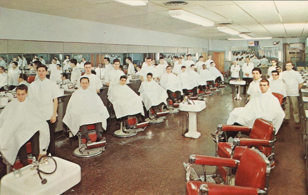 Barber Classes : Tri-City Barber School, Philadelphia, PA Circa 1964, Tri-C ...