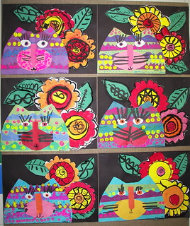 Laurel Burch inspired Cats | by Paintbrush Rocket