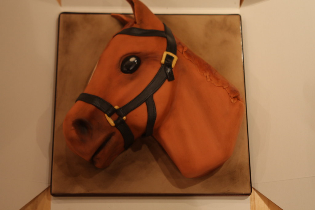 Horses Head Cake For a 16th birthday its a likeness of h Flickr