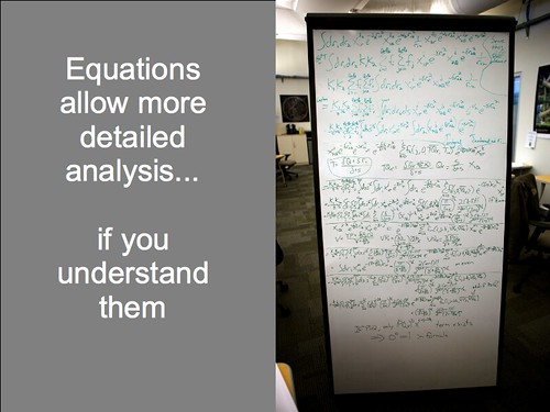 Equations allow more detailed analysis... if you understand them. | by Terriko