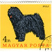 Hungary postage stamp: Puli dog
