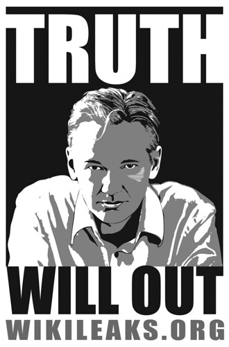 TRUTH WILL OUT (Julian Assange) Wikileaks.org | by R_SH