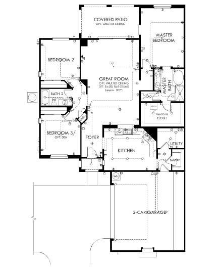 Cachet Homes Crescent Falls At Fulton Ranch Plan E Floor P Flickr