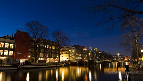 Blue hour at Binnen Amstel | by Nathalie Stravers