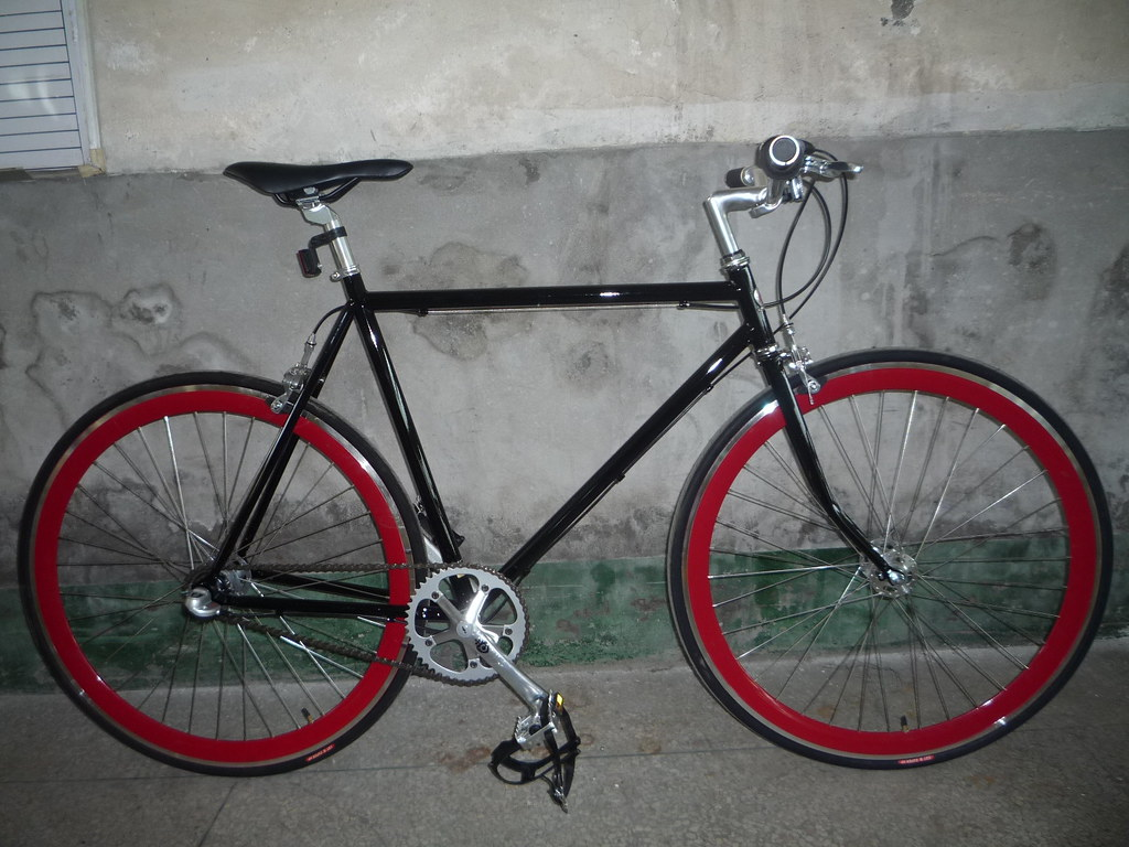 Bike With Red Rims Bike Black With Red Rims