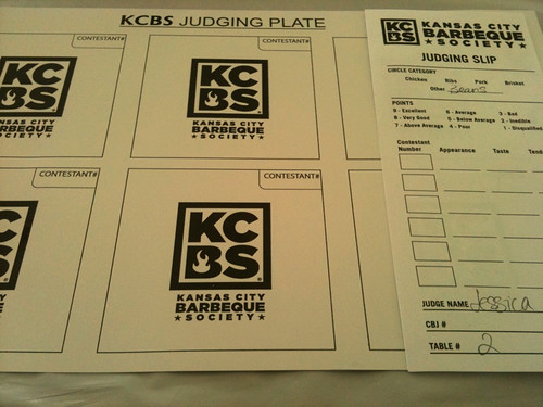 KCBS judging plate and judging slip | by Burger Baroness