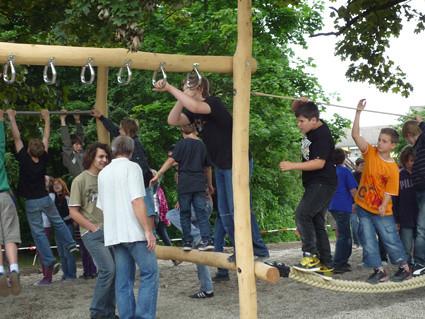 Klettergerüst Schulhof : Klettergerüst schulhof realschule durmersheim die einweihuu flickr