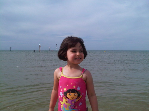 Emily loving the sea at Margate | by only little
