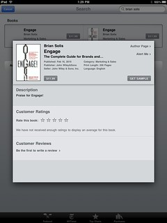 Engage by Brian Solis now available in Apple's iBooks Bookstore | by b_d_solis