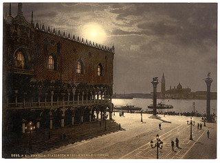 [Piazzetta and San Georgio by moonlight, Venice, Italy] (LOC) | by The Library of Congress