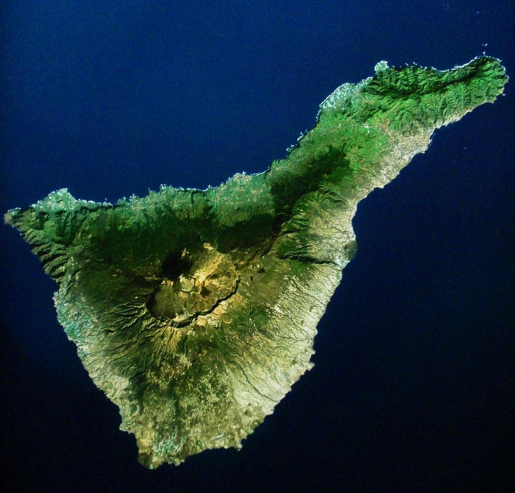 Tenerife a vista de satélite.Marte-Tierra. Una anatomía co… | Flickr