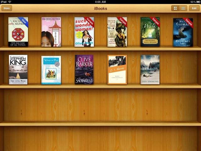 By VickyKenKiyomi This Mornings IBooks Bookshelf On My IPad