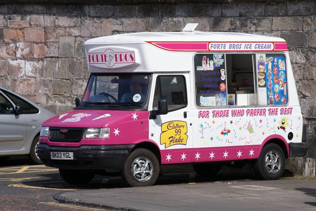 White Mercedes Benz >> Forte Bros Berwick upon Tweed LDV Ice Cream Van BK03YGL. | Flickr