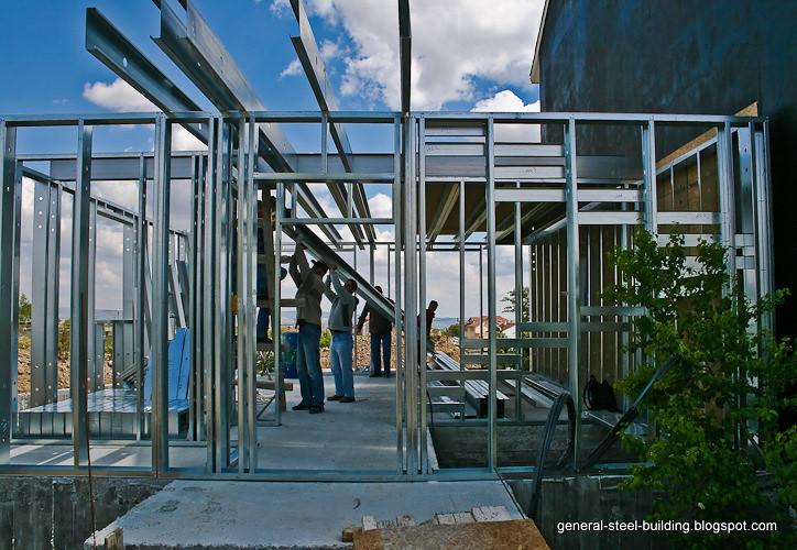 Steel frame house construction general steel building for Building house blog