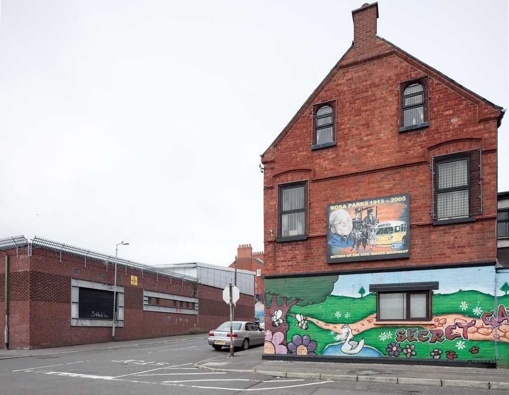 Rosa parks mural on youth center building belfast flickr - Centre commercial rosa parks ...