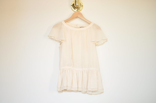 H&M ruffle buttom top | by ornithes