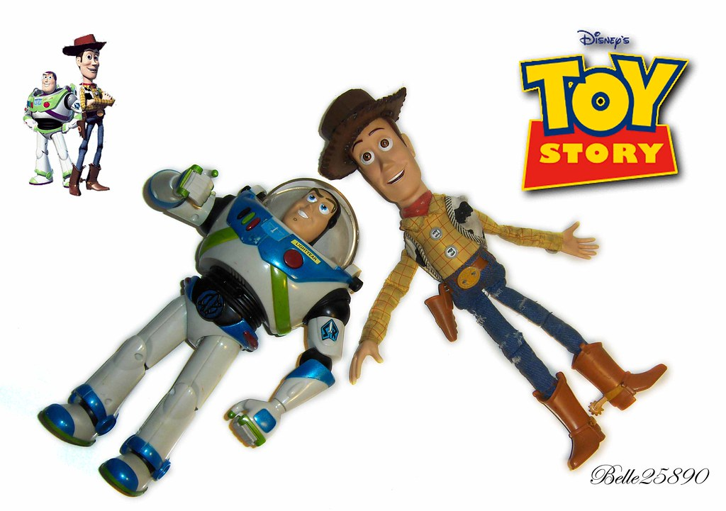 my new sheriff woody and buzz lightyear toys there are my flickr