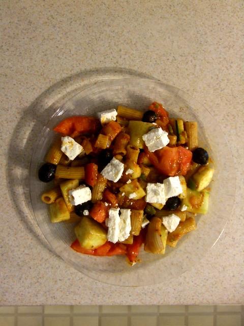 Warm salad.