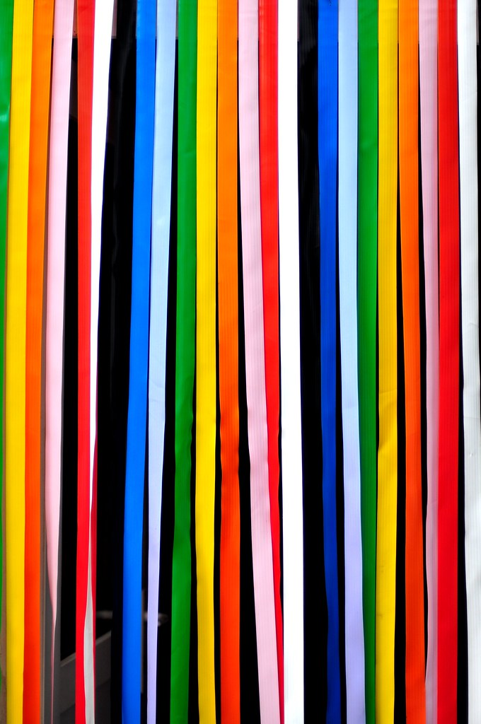 Colorful Door Curtain | Cyril Plapied | Flickr