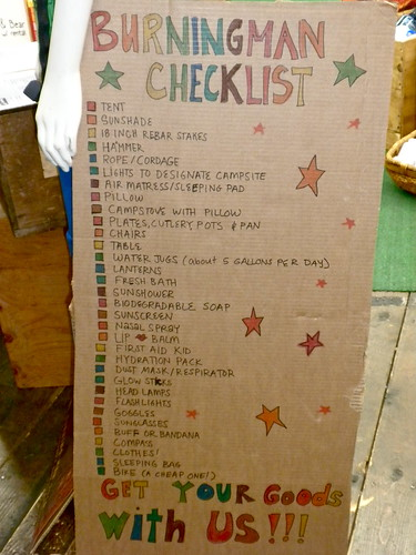 Burning Man Checklist | by DoNotLick