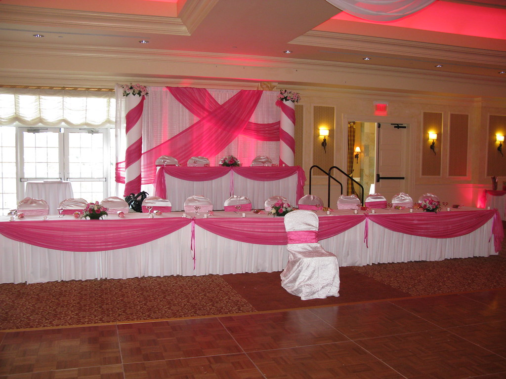 Head table decorations and backdrop for a quinceanera at d for Backdrops decoration