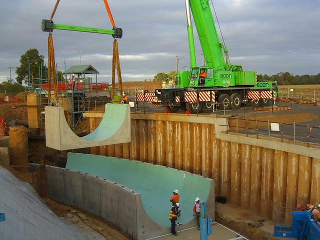 Werribee Aqueduct construction