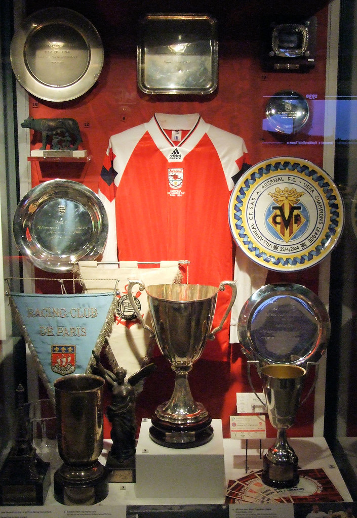One Of The Trophy Cabinets At Arsenal Museum