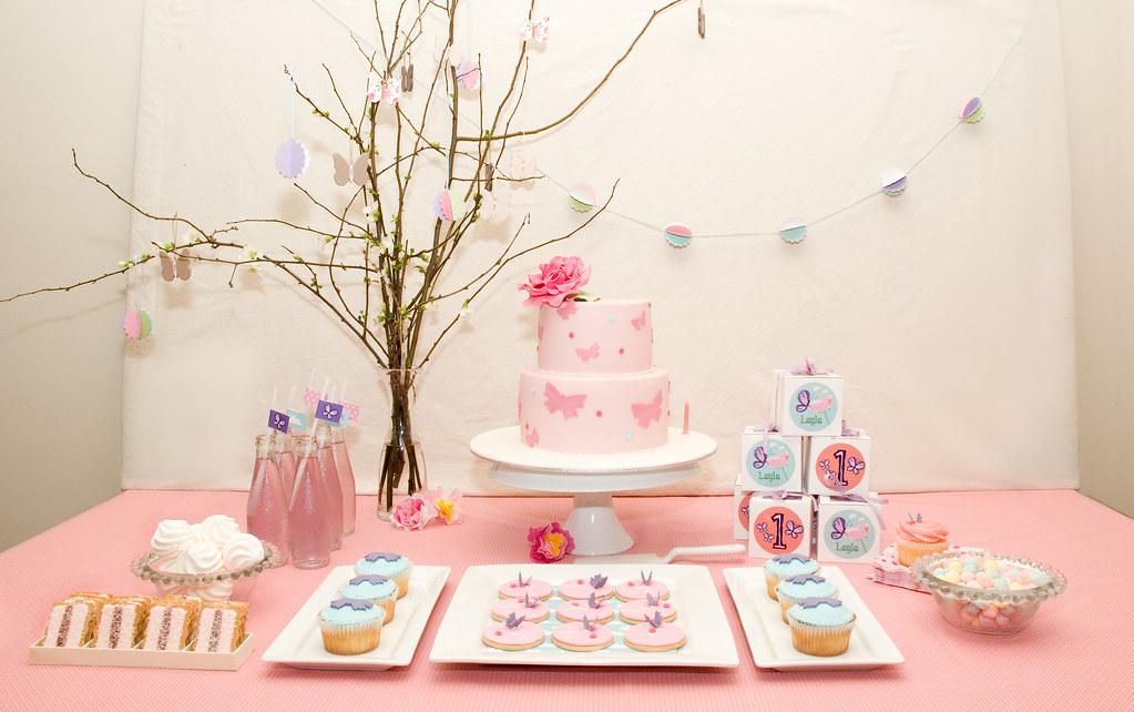 Layla S First Birthday Dessert Table Enchanted Garden
