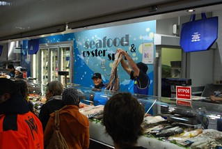 Seafood and oyster spot queen victoria market yanni is for Fish market queens