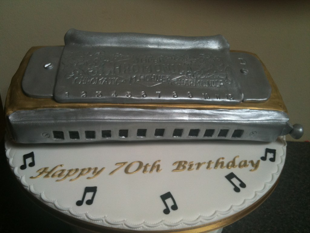 Happy Birthday Harmonica Cake Picture