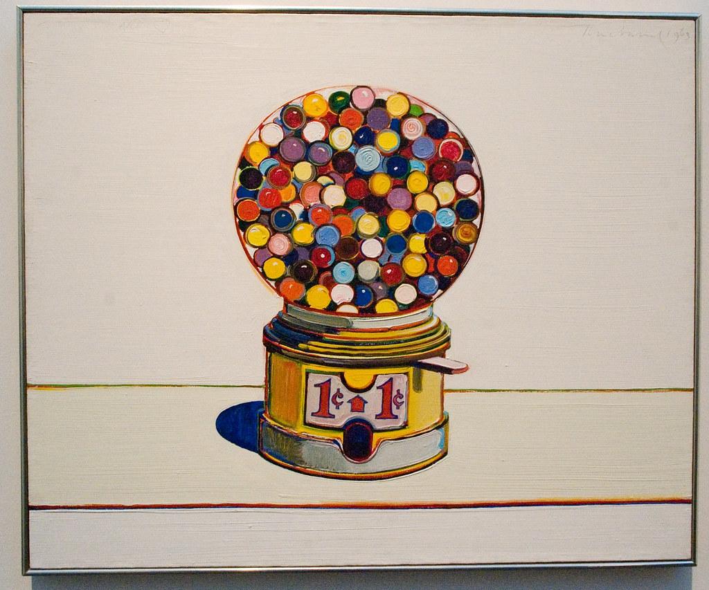 Painting 20c 1963 Wayne Thiebaud Jawbreaker Machine