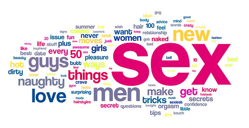 A tag cloud for Cosmo Magazine (2007 - 2010) | by DBarefoot