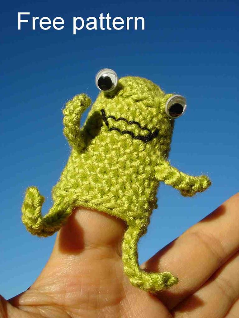 Easy Finger Puppet Knitting Pattern : Froggy finger puppet i ve made another fnger