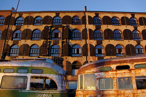 Rusty Old Streetcars at Fairway Market, Red Hook - Brooklyn | by ChrisGoldNY
