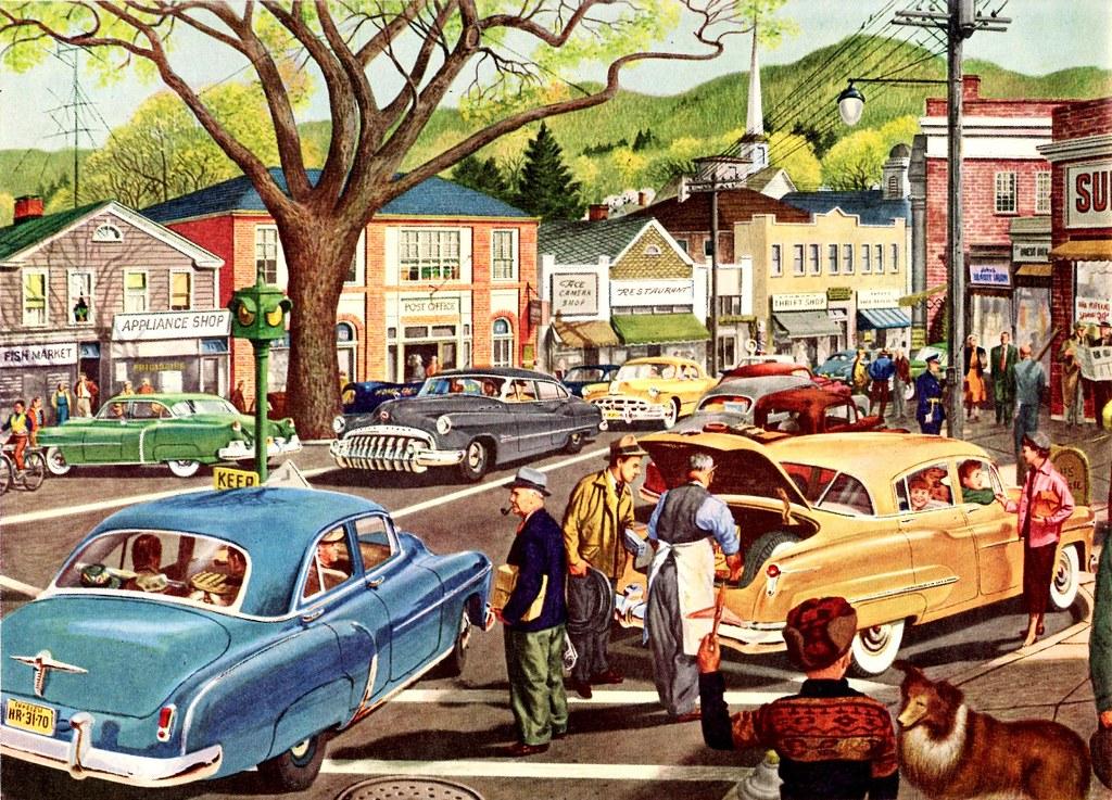Main Street Motors >> 1950 General Motors Cars Ad | This scene was described as be… | Flickr